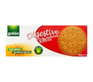 GALLETAS DIGESTIVE 33% MG GULLON 400 GR.