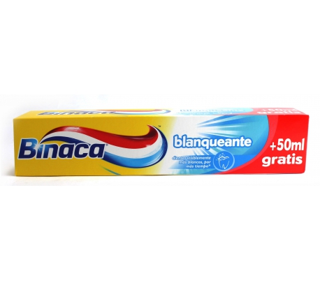 PASTA DENTAL BLANQUEANTE BINACA 75 ML.