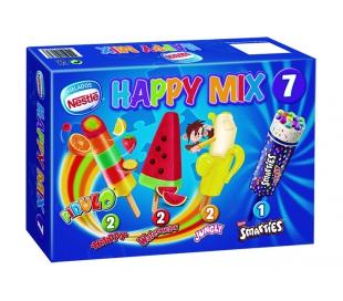 HELADO HAPPY MIX NESTLE PACK 7X65 ML.