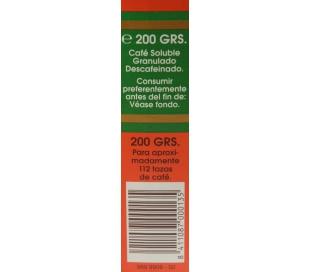 CAFE SOLUBLE DESCAFEINADO ORTEGA 200 GR.