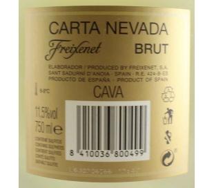 CAVA CARTA NEVADA BRUT FREIXENET 75 CL.